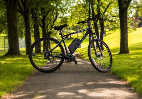 e-bike in the park