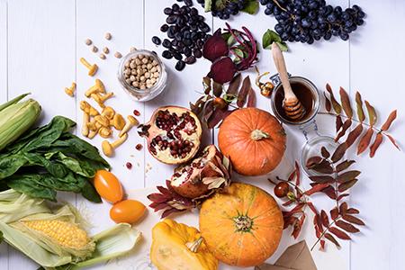 Autumnal food ingredients